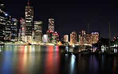 3rd July - Brisbane City (ngairenaran) Tags: city night reflections lights downtown brisbane