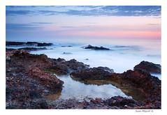 Mediterrneo (Juan Miguel) Tags: longexposure sea espaa seascape sunrise landscape mar spain europa europe sony paisaje alicante amanecer spanien mediterrneo largaexposicin spagne comunidadvalenciana tamron1750 fvac alpha700 ostrellina