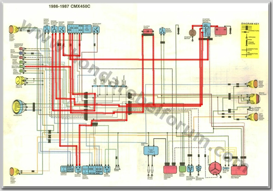 Rebel Wiring Harness Diagram Illustration Of Denso Honda 125 250 450 U2022 View Topic Doesn T Start Rh Rebel250 Com 1 Wire Alternator Chevy