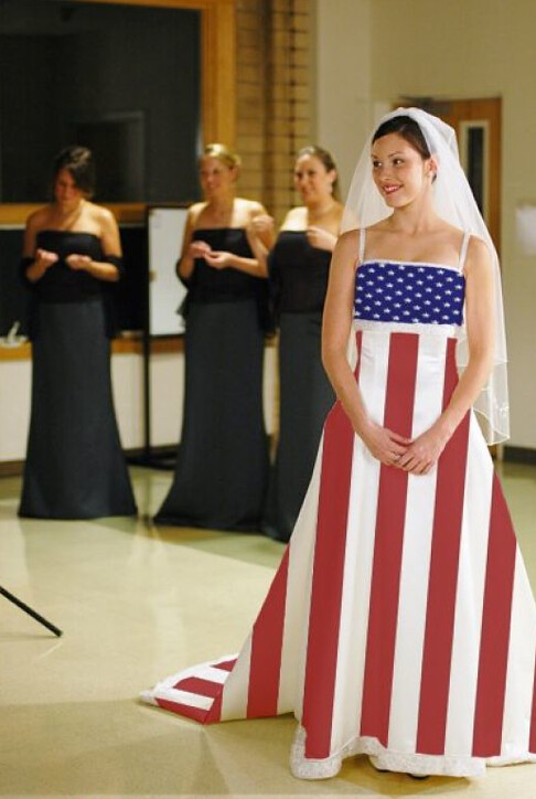 fourth of july weddng dress