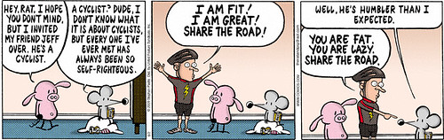 Pearls Before Swine Cyclist Comic