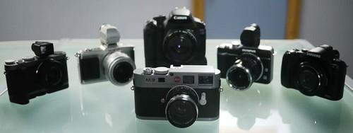Olympus E-P2 Olympus E-PL1 Leica X1 Leica M9 Samsung NX10 Canon 550D