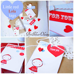 Little red Lola tags (Ishtar olivera ) Tags: cute illustration paper pretty tags littleredridinghood giveaway etsy littlered etiquetas printable caperucitaroja