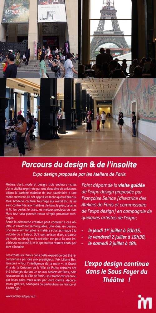 Vues d'ensemble de l'exposition Imaginez Maintenant au Palais de Chaillot