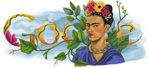Google: Happy Birthday Frida Kahlo