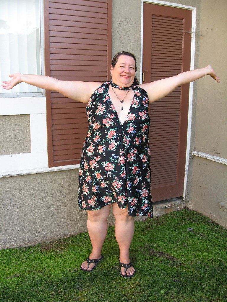 yay its summer (neovictorian) Tags: vintage bbw fabric 1970s sundress  upcycled