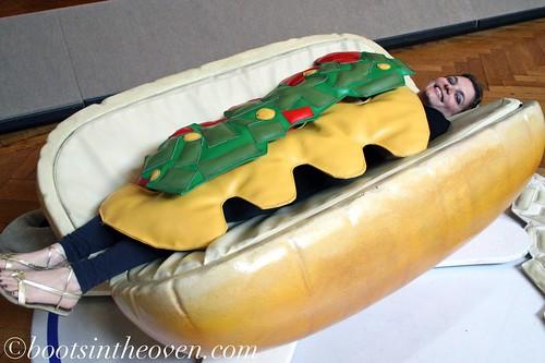 Rachel as hot dog