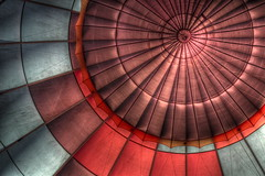 2010 Hot Air Balloon 032 (TVGuy) Tags: hot lines circle colorado pattern interior air balloon fabric
