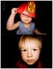 188/365 - Diptych Boys (Micah Taylor) Tags: boys kids fisheye jacket fireman helmut ringflash 2yo 1yo project365 taylorkiddos