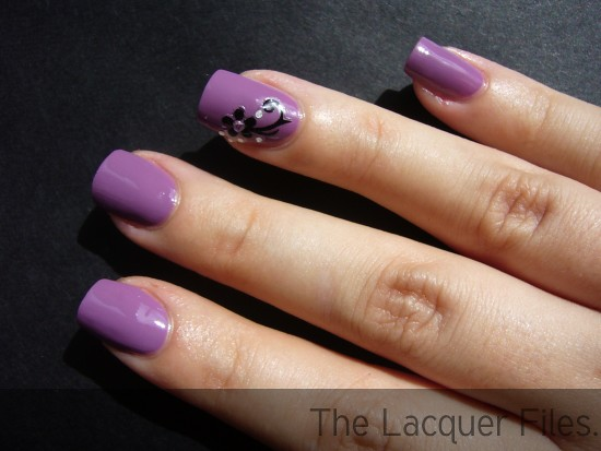 Color Club Uptown Girl Rebul Debutante Collection spring 2010 Viva La Nails Flower Nail Art Stickers