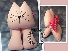 .:. Gatinha com Lao .:. (Bonecos de Pano .Com) Tags: gatinhodetecido gatocomlao gatadetcido gatinhacomlao