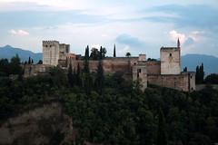 Blick auf die Alhambra, Granada, Andalusien