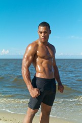 L.L. Burrell - Hero I (willstotler) Tags: leica shirtless summer man black hot male beach muscles fashion 35mm pose naked de model photoshoot african chest handsome posed posing summicron american m8 africanamerican delaware fitness toned abs ll asph gq bowers burrell summicron35mm bowersbeach leicam8 summicron35mmasph willstotler mm798731 798731 llburrell
