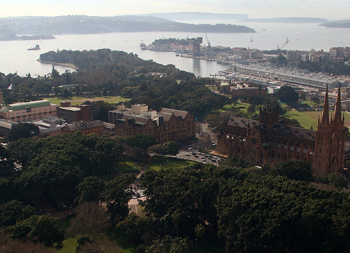 View of Hyde Park, Sydney.