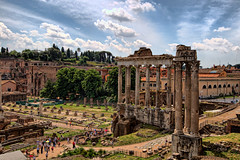Temple of Saturn (klausthebest) Tags: light sky italy cloud rome colour roma building architecture temple italia ruin column lazio forumromanum fororomano templeofsaturn topshots tempiodisaturno dragondaggerphoto