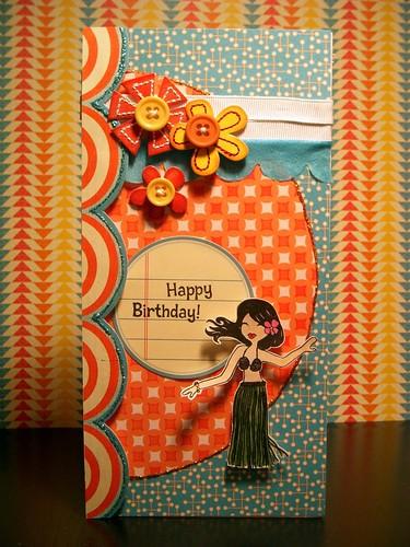 SSD#33 Happy Birthday Hawaiian Dancer
