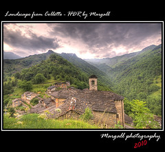 Landscape from Colletto - HDR by Margall (Margall photography) Tags: italy mountain storm canon photography italia 10 sigma valle piemonte valley marco after 20 cuneo montagna hdr temporale 30d grana colletto galletto margall