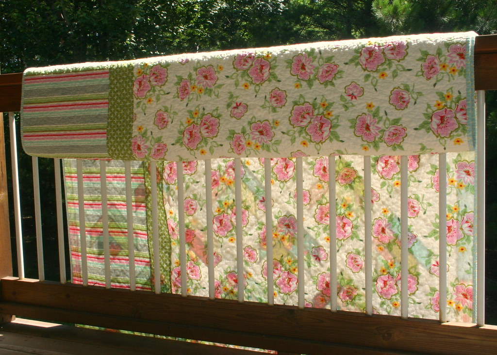 Floral Bouquet Quilt - back