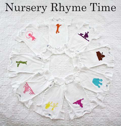 Nursery Rhyme Silhouette Onesies