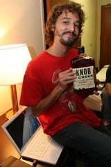 IMG_4354 (Dan Correia) Tags: party topv111 macintosh topv333 shadows phone laptop whiskey ricardo bourbon canonef1740mmf4lusm diffuser 580ex knobcreek macbook