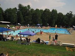 summer at the town pool