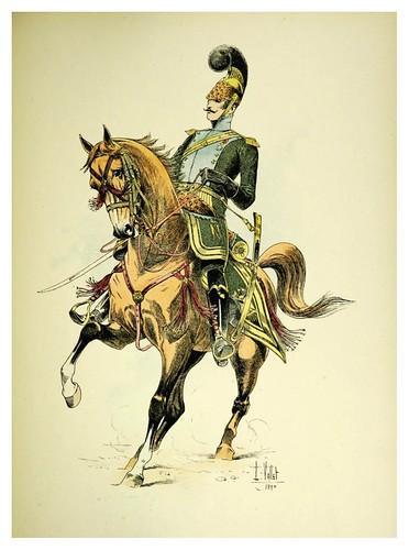 021-Oficial de la caballeria ligera de lanceros 1813-Le chic à cheval histoire pittoresque de l'équitation 1891- Louis Vallet