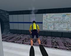 S-Bahn unter Wasser