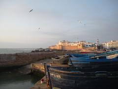 Essaouira Fishing Port (jleathers) Tags: sunset port boats atlantic morocco essaouira