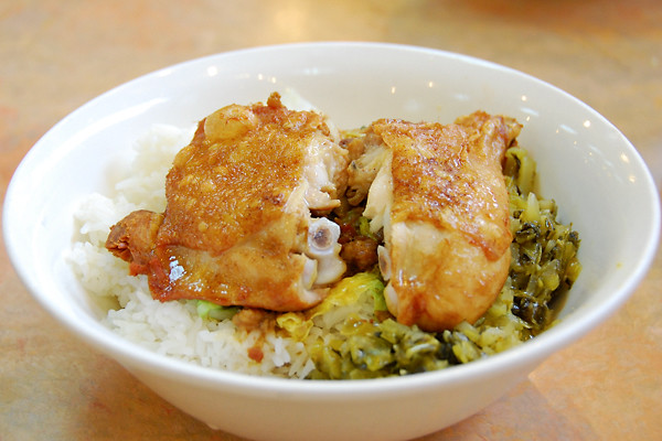 fried-chicken-leg-over-rice