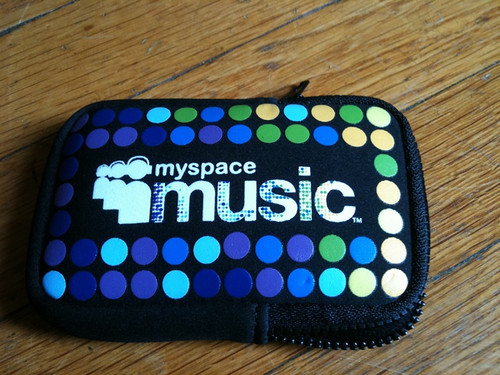 MySpace Music iPhone holder