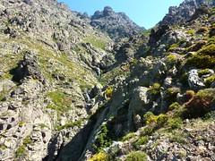 Remontée de la Haute Lonca : le verrou et les cascades au-dessus de Terrici