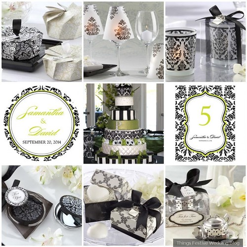 Table Decorations Black And White Theme Black And White Damask Wedding Decorations Things Festive Weddings