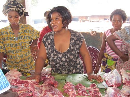 Kinshasa meat market