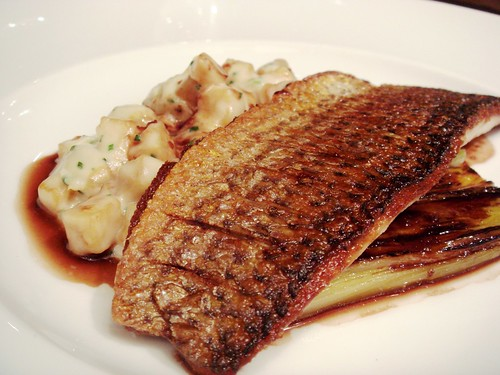 28-50 Wine Workshop and Kitchen - Grey mullet, celeriac and civet sauce