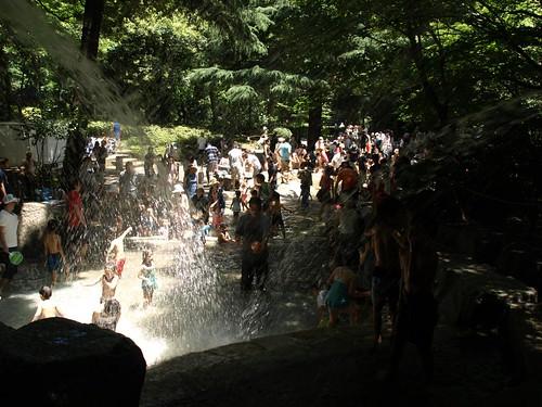 林試の森公園 じゃぶじゃぶ池
