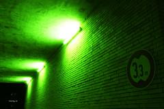 3,3 m (egal_ist_88) Tags: light summer green lamp backlight night trash digital corner canon photography eos photo stones fear bricks gang tunnel 7d lone slum