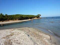 Arrivée à la plage de Balistra : traversée de l'embouchure du Francolu