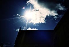 Tithe Barn (Andrew Eberlin) Tags: sun film lomo lca lomography glare kodak wiltshire kodakportra160vc bradfordonavon tithebarn kodakfilm