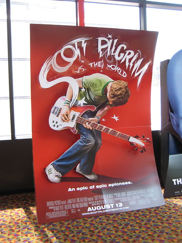 Scott Pilgrim VS The World Theater Lobby billboard movie poster 7586