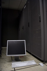 Server and Monitors in FCC Data Center