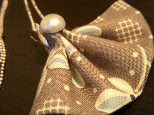 Fabric Fan Necklace