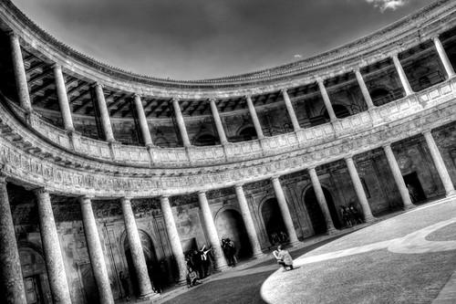Carlos V palace. Alhambra. Granada. Palacio de Carlos V