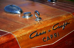 Chris Craft Capri (Studiobaker) Tags: chris brown classic vintage gold star capri golden boat wooden antique grain craft style ring deck chrome finish gleam script woodenboat stern powerboat tow varnish antiqueboat studiobaker