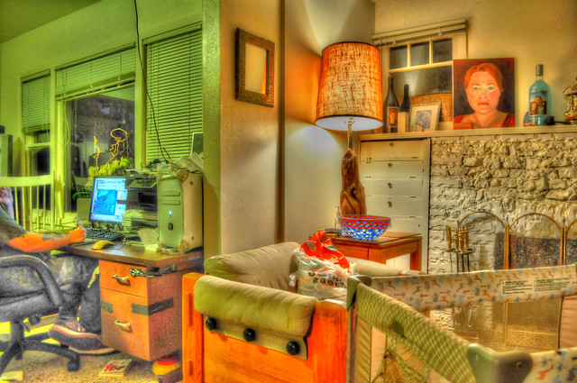 house high colorful interior livingroom dynamicrange hdr cluttered