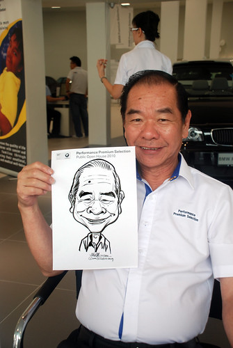 Caricature live sketching for Performance Premium Selection BMW - Day 3 - 11