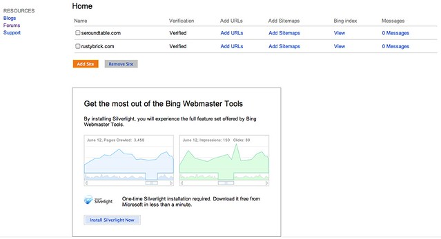 New Bing Webmaster Tools