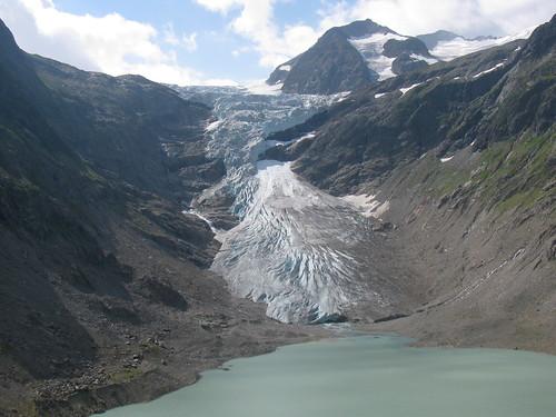 Gletscher / Glacier : Triftgletscher bei der Triftbrücke , Kanton Bern , Schweiz