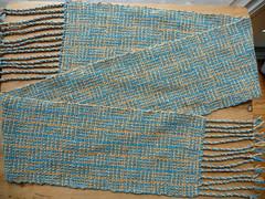 log cabin weave scarf