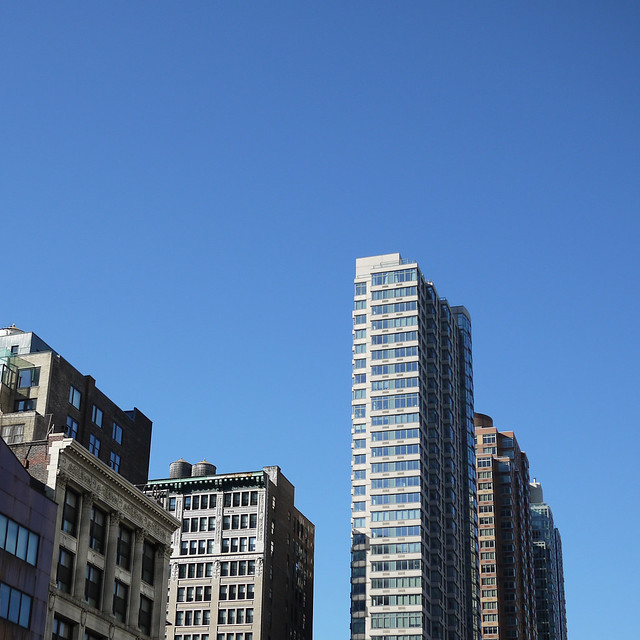 Looking up down the block #walkingtoworktoday