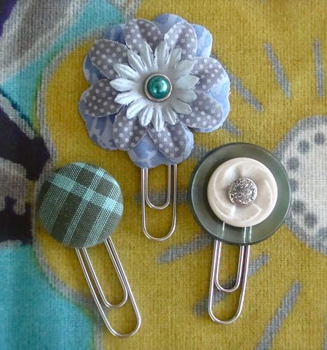 Paper Clip & Button Bookmarks